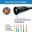 WIRO 3x1,5-3x2,5 adapter M5